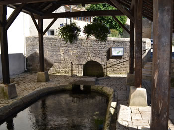 Ancient lavoir at source Chef-boutonne